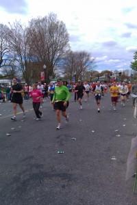 2010 Boston marathon, from downtown Natick, Massachusetts