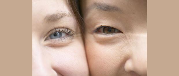 closeup women's faces