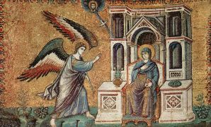 Annunciation mosaic by Pietro Cavallini
