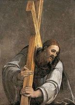 Christus Budapest with cross by Sebastiano del Piombo