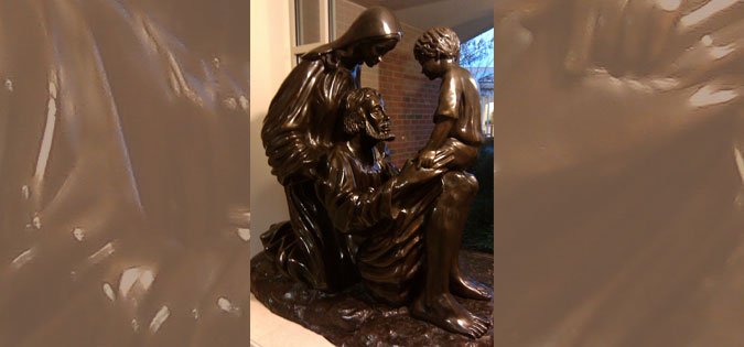 Holy Family sculpture in the motherhouse of the Sisters of Saint Joseph, Pittsford, NY (artist unknown)
