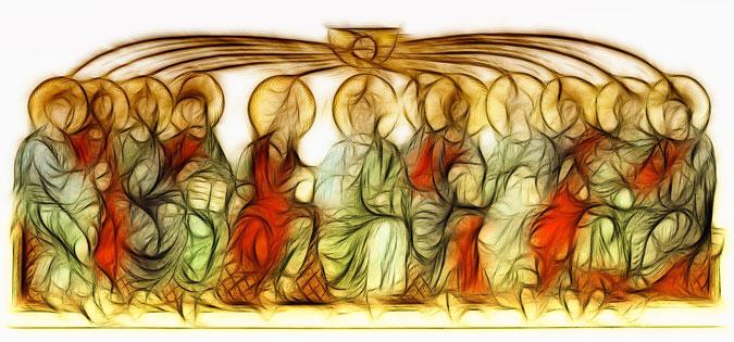 Pentecost - indistinct faces
