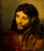 """Rembrandt """"Young Jew as Christ,"""" also known as """"Head of Christ, done from life."""""""