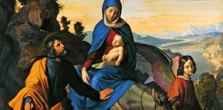 """The Flight into Egypt"" by Julius Schnorr von Carolsfeld - public domain via Wikimedia Commons"
