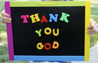 Thank you God sign
