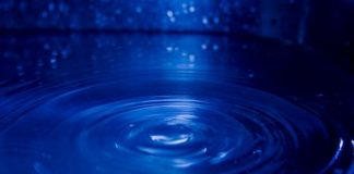 blue ripples of water