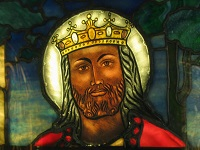 Christ the King in stained glass