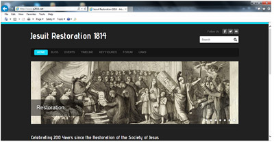 Jesuit Restoration website screenshot