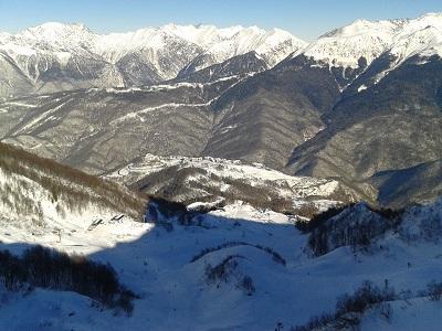 Ski area Rosa Khutor near Sochi, Russia
