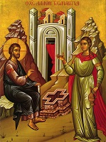 icon of Jesus and the Samaritan woman at the well