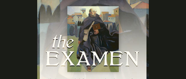 Examen prayer card header