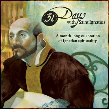 31 Days with Saint Ignatius - social sharing graphic
