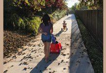 woman walking in summer