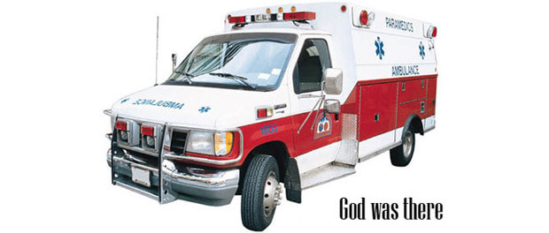 God was there - ambulance