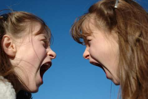 girls screaming at each other