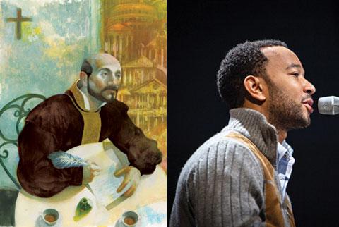St. Ignatius Loyola and John Legend