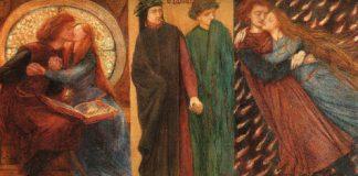 """""""Paolo and Francesca da Rimini"""" by Dante Gabriel Rossetti . Licensed under Public domain via Wikimedia Commons."""