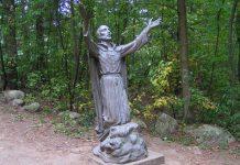 John de Brebeuf statue in Midland, Ontario