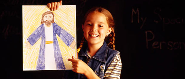 child-draws-Jesus