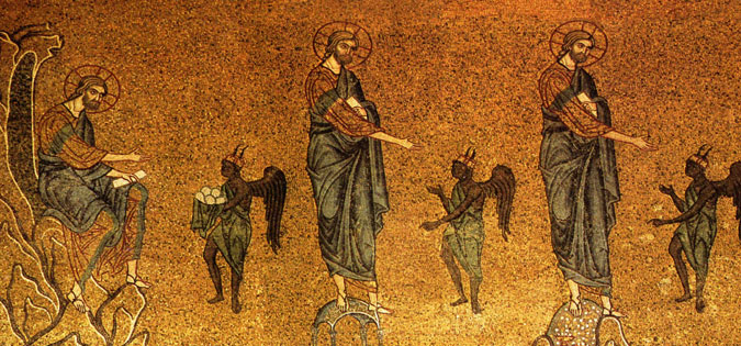 The Temptation of Christ mosaic - Basilica of St. Mark in Venice