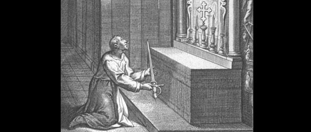 St. Ignatius lays down his sword at Montserrat