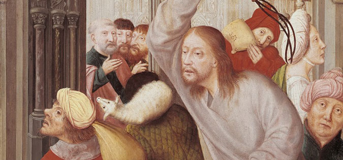 Jesus Chasing the Merchants from the Temple by Quentin Matsys