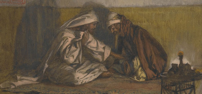 Interview between Jesus and Nicodemus by James Tissot