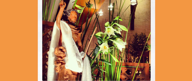 Easter Vigil, photo via http://picturinggod.ignatianspirituality.com/