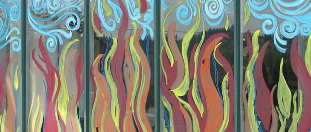 Pentecost windows - image by Robin under (CC BY 2.0) license: https://www.flickr.com/photos/13384589@N00/2478674945/in/photostream/