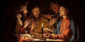 "Matthias Stom, ""Supper at Emmaus,"" public domain via Wikimedia Commons"