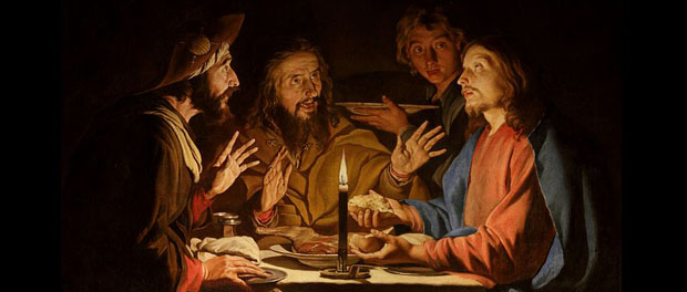 "Matthias Stom, ""Supper at Emmaus,"" public domain via Wikimedia Commons"