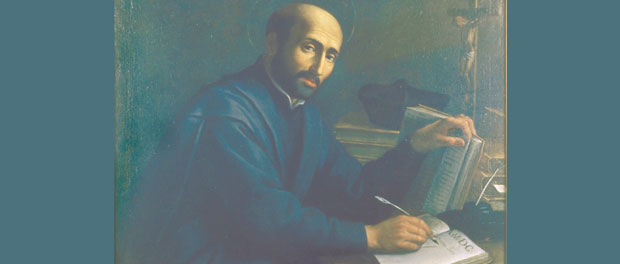 St. Ignatius Loyola at desk