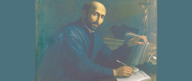 St. Ignatius Loyola at desk