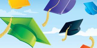 graduation; mortarboards