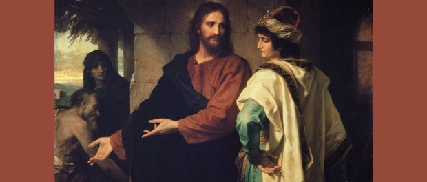 "Heinrich Hofmann, ""Christ and the Rich Young Ruler"" public domain via Wikipedia"