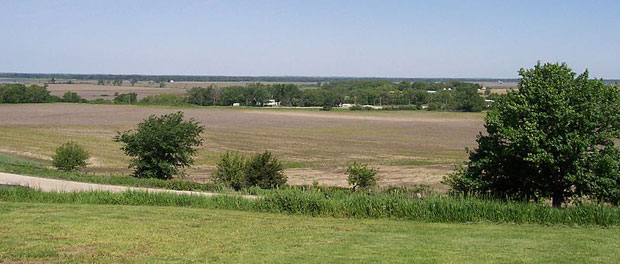 Platte River valley west of Omaha. Image released into the public domain by its author, Iulus Ascanius at the Wikipedia project.