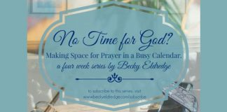 No Time for God? logo for prayer series by Becky Eldredge