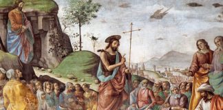 "Ghirlandaio ""Preaching of St. John the Baptist"""
