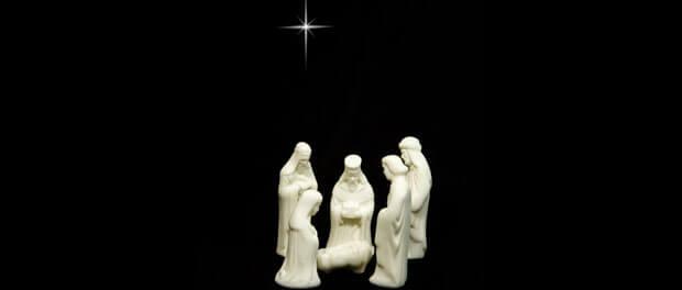 Nativity scene with Magi