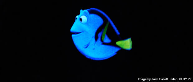 Dory on the Finding Nemo ride - image by Josh Hallett under CC BY 2.0