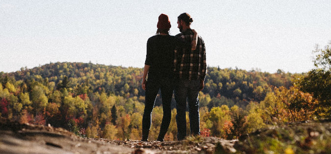 couple looking at view