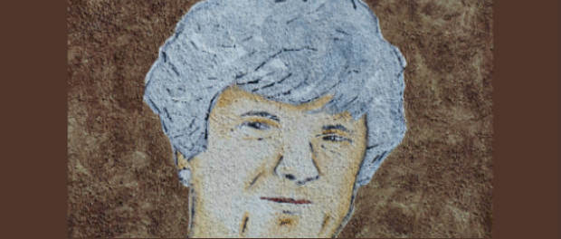 drawing of older woman (close-up)