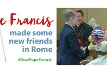 """Pope Francis meets with children, co-authors of """"Dear Pope Francis"""""""