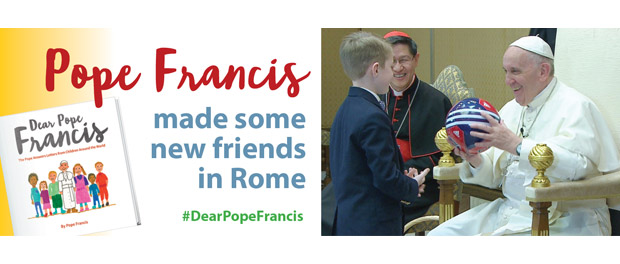 "Pope Francis meets with children, co-authors of ""Dear Pope Francis"""