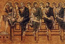 """Holy Thursday - Mosaic in Basilica di San Marco in Venice - """"Christ Washing the Feet of His Disciples"""""""