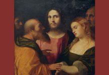 "Palma il Vecchio ""Christ and the Adulteress"""