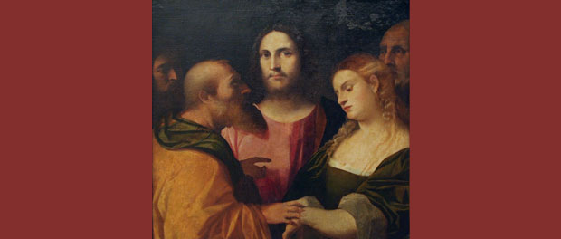 "Palma il Vecchio ""Christ and the Adulteress"""