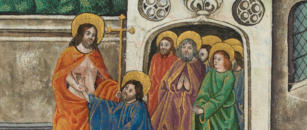 "Vaux Passional - ""The Incredulity of Thomas, Who Places His Finger in the Wound"" - public domain"
