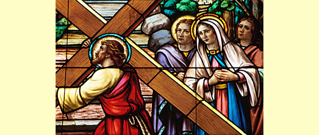 Stations of the Cross stained glass