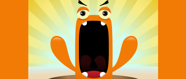 angry character